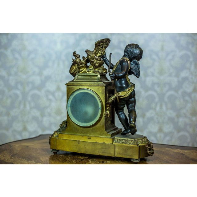 French Mantel Clock Set, Circa 19th Century For Sale - Image 12 of 13