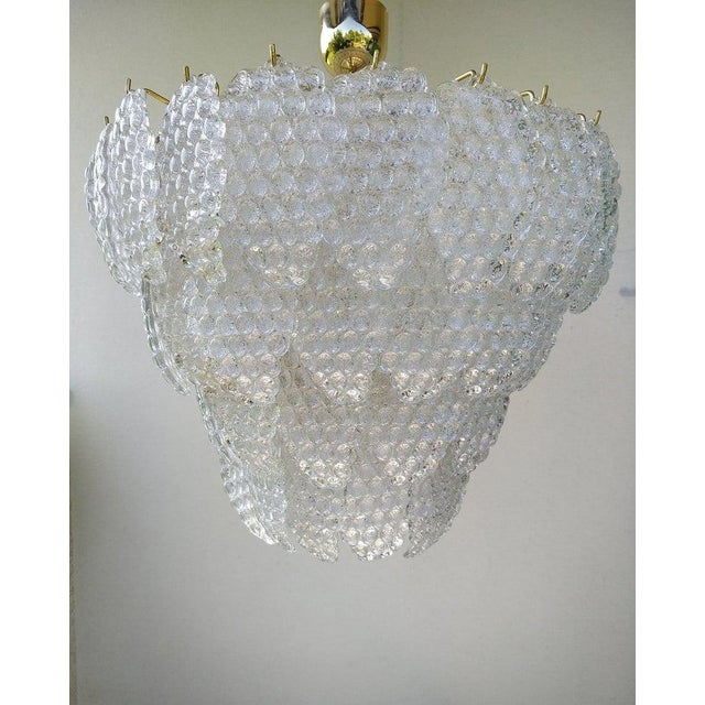 Vintage Murano Glass Ball Room Chandelier For Sale - Image 12 of 12