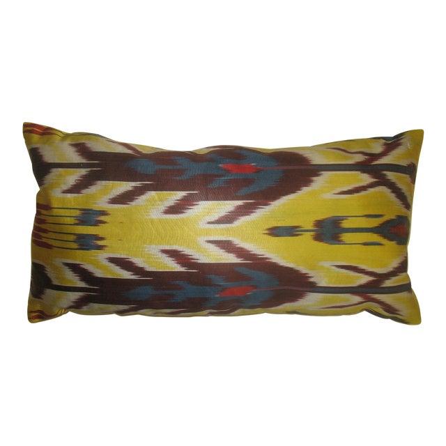 Yellow Ikat Lumbar Pillow - Image 1 of 3