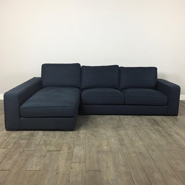 Modern Navy Sectional Sofa - Image 2 of 8