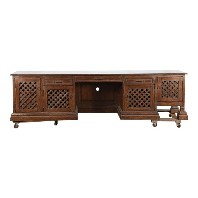 Mid Century Moroccan Handcrafted Decorative Desk For Sale