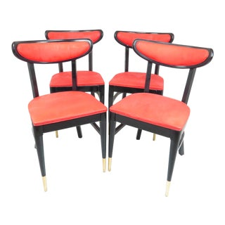 1950s French Bistro Chairs by Bianco Mfg Co - Set of 4 For Sale