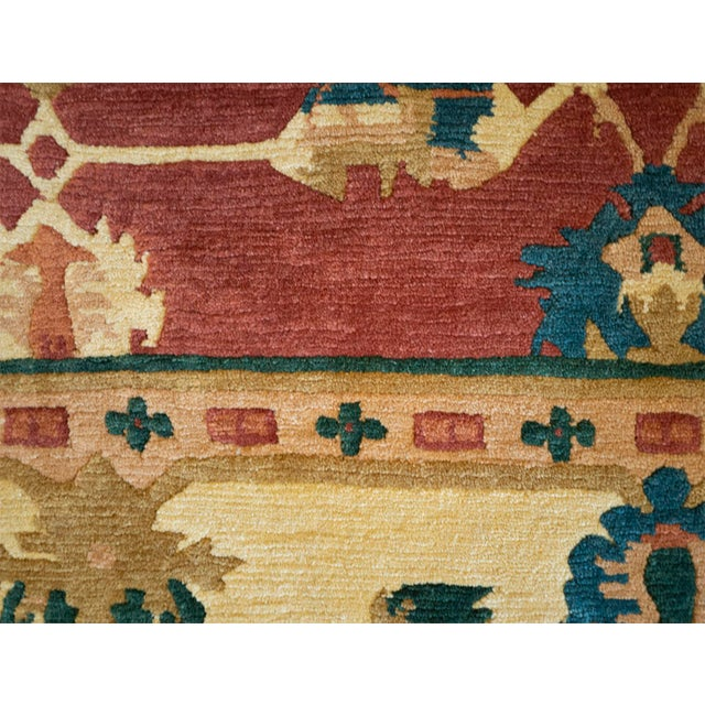 1990s Mansour Fine Quality Tibetan Rug - 8′ × 9′ For Sale - Image 5 of 5