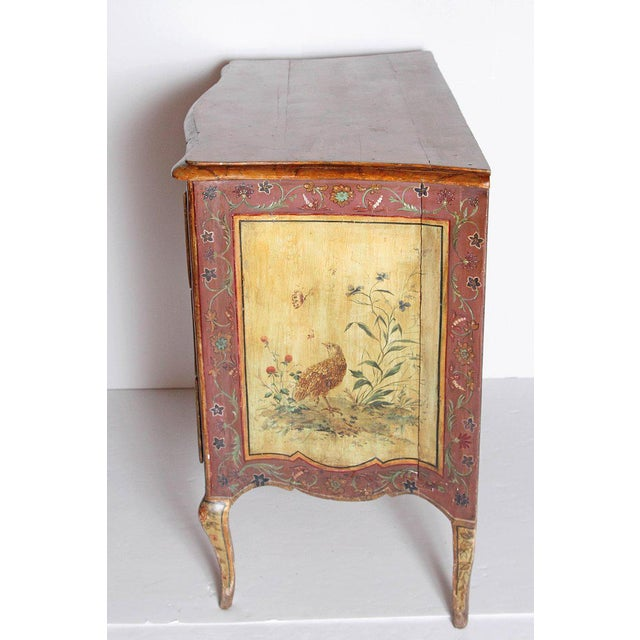 Pink 18th Century Italian Painted Commode For Sale - Image 8 of 13