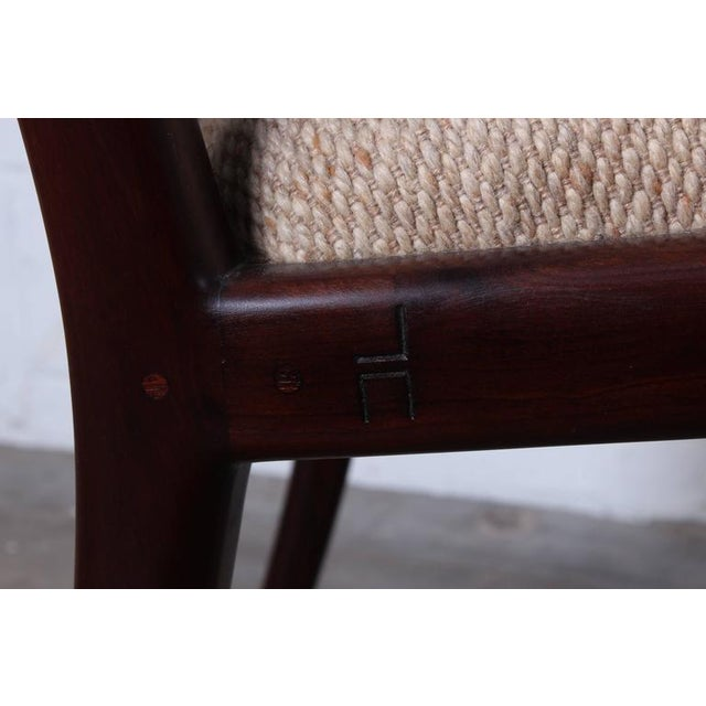Walnut Craft Armchair by John Nyquist - Image 8 of 10