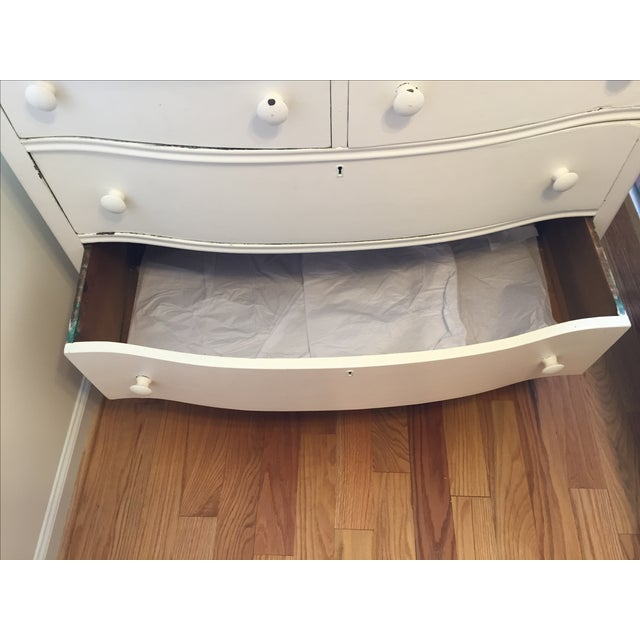 Painted White Wooden Dresser - Image 7 of 7