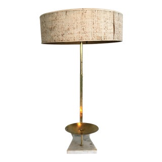 1940s Stiffel Brass and Marble Lamp For Sale