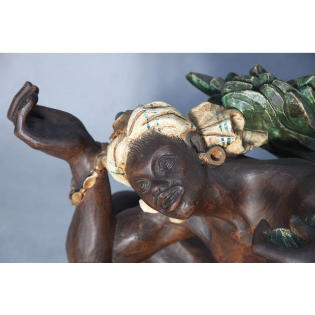 Red Ithophallic Blackamoor Table For Sale - Image 8 of 10