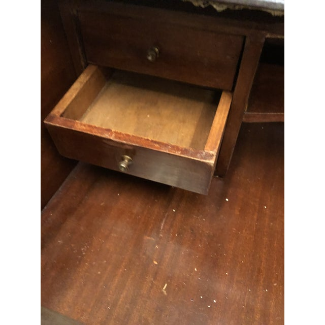 Brown Roll Top Writing Desk For Sale - Image 8 of 10