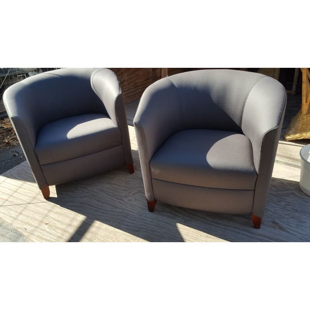 Bernhardt Blue Club Chairs - A Pair For Sale In Saint Louis - Image 6 of 7