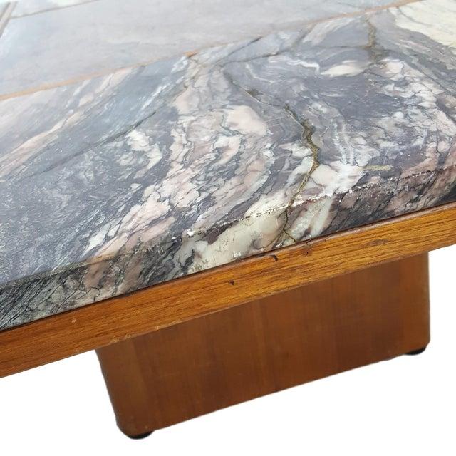 Bendixen Danish Modern Marble Top Coffee Table - Image 5 of 7