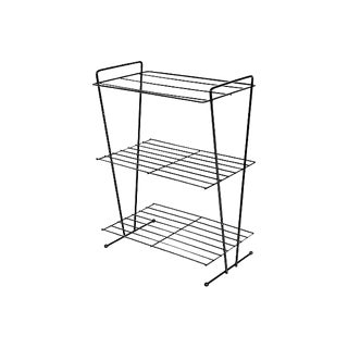 1960s Black Metal Wire Bookshelf For Sale