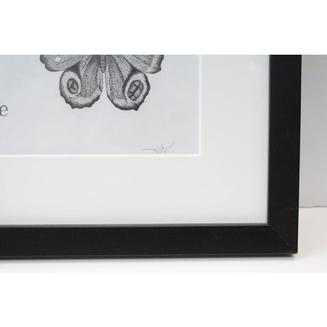 Art Nouveau Black and White Butterflies Sketch For Sale - Image 3 of 10
