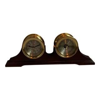 Vintage Mantle Clock and Barometer For Sale
