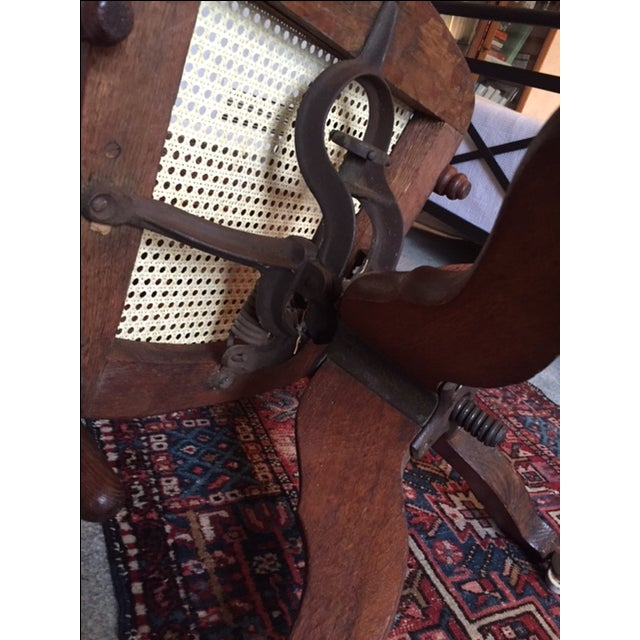 1940s Vintage Cane Office Chair - Image 6 of 8