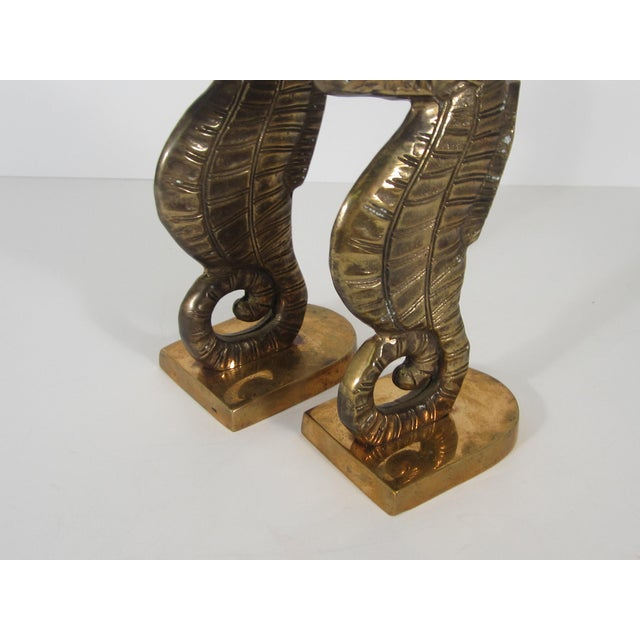 Brass Seahorse Bookends - Image 3 of 5