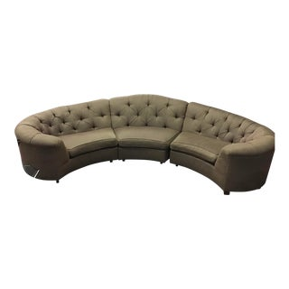 Vincente Wolf Modern Crescent Sectional Sofa 3 Pcs For Sale