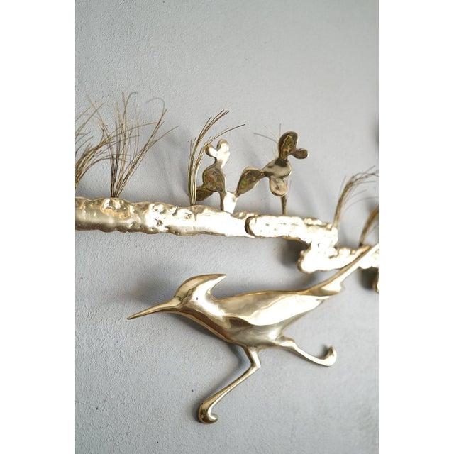 Vintage Bijan Roadrunner Brass Metal Wall Art Sculpture   Chairish