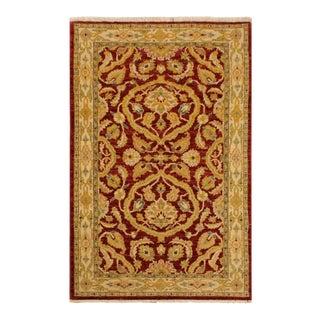 "Kafkaz Peshawar Byron Red/Tan Wool Area Rug - 3'2"" X 4'11"""
