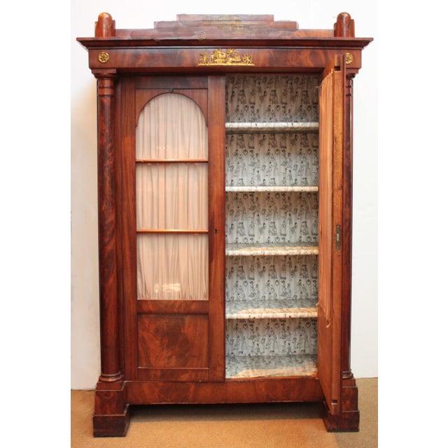 Biedermeier 19th Century Biedermeier Bibliotheque of Figured Mahogany For Sale - Image 3 of 10