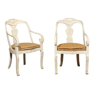 19th Century Painted Chairs - a Pair For Sale