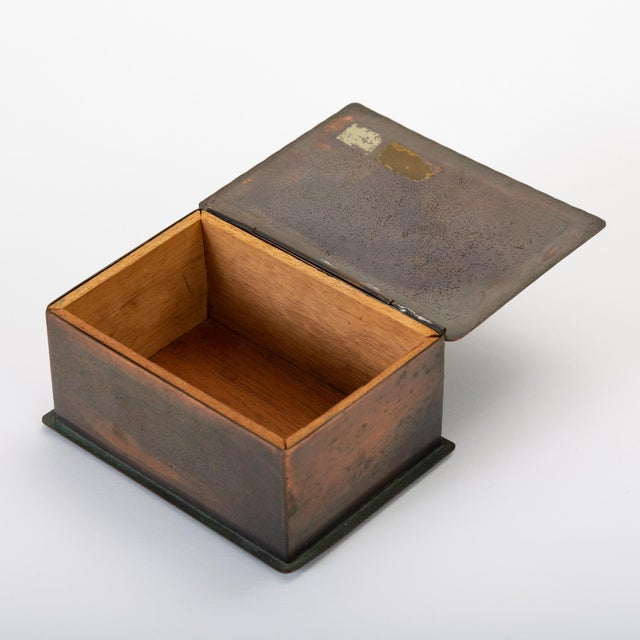 Handmade Copper Box With Painted Geometric Pattern by Craftsman Studios For Sale - Image 9 of 11