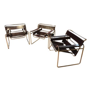 Knoll Marcel Breuer Wassily Chairs - Set of 3 For Sale