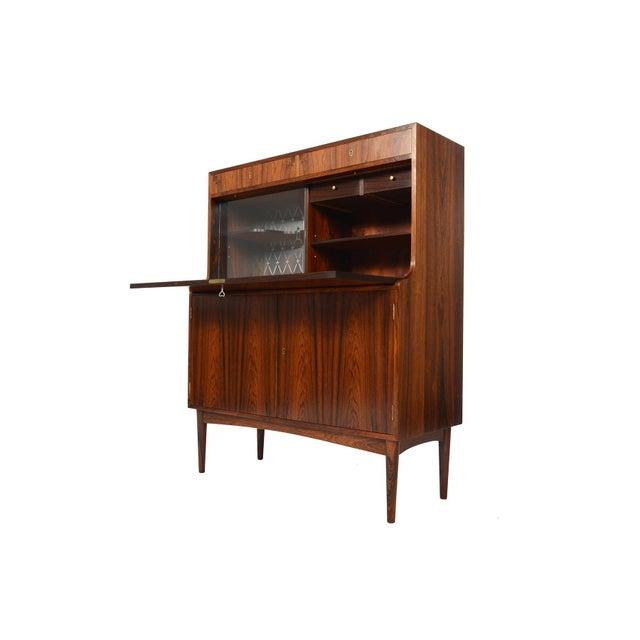 Danish Modern Rosewood Secretary Bar - Image 4 of 9