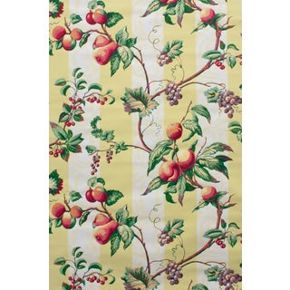 Vintage Bassett McNab Blue Fruiting Vine Wallpaper - 15 Yard Roll For Sale