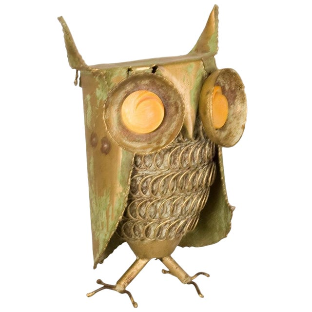 Curtis Jere Inspired Owl Sculpture For Sale