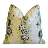 "Image of Rose Tarlow Melrose House Bloomsbury Floral Feather/Down Pillow 21"" Square For Sale"