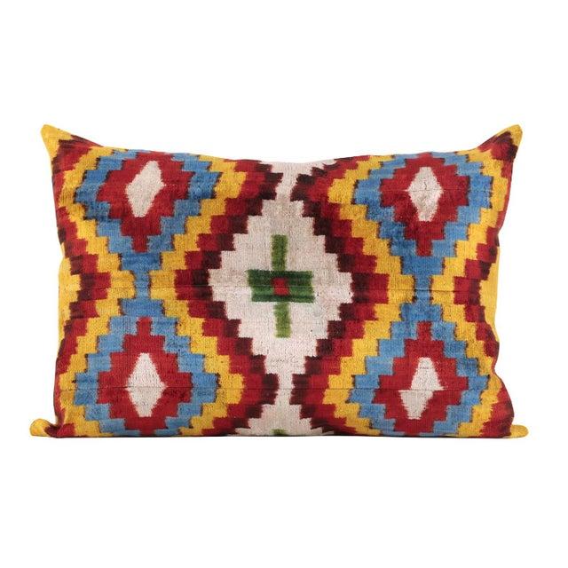 Bohemian Silk Velvet Accent Pillow - Image 2 of 5