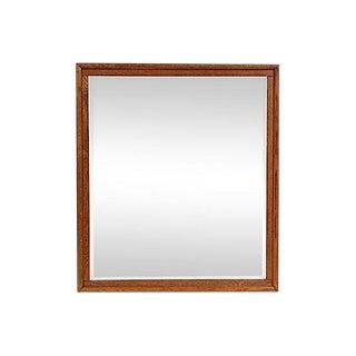 19th-C. Oak Wall Mirror For Sale