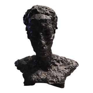 Bronze Bust of a Man in the Manner Giacometti For Sale