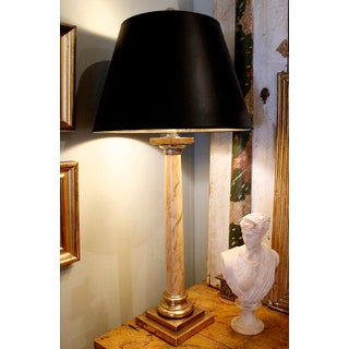Tall Faux Marbre Column Lamp Preview