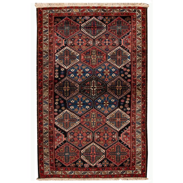 Vintage Bakhtiari Wool Rug 4'4'' X 7'2'' For Sale - Image 12 of 12