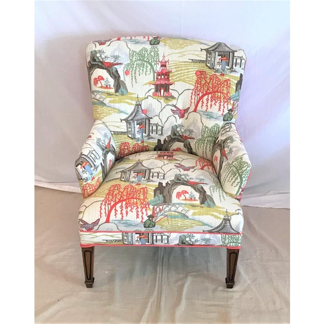 1960s Mid Century Robert Allen Chinoiserie Armchair For Sale - Image 5 of 6