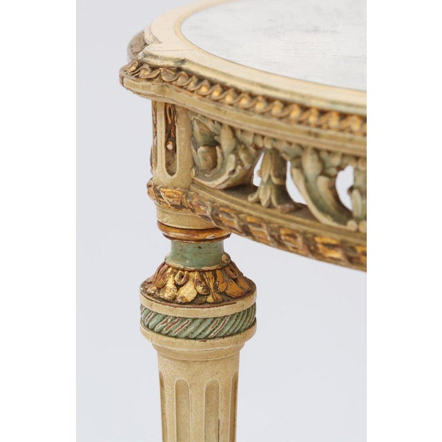 Late 19th Century 19th Century Painted French Occasional Table Inset With Mirrored Top For Sale - Image 5 of 8