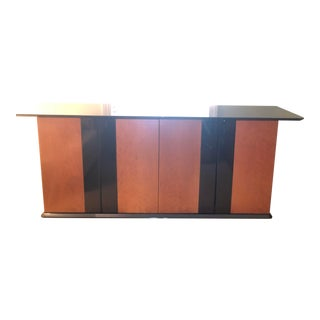 1970's Birds Eye Maple Sideboard Buffet For Sale