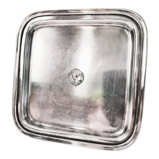 1928 Silver Plated Tray From Admiral Line & Pacific Coast Steamship Company For Sale