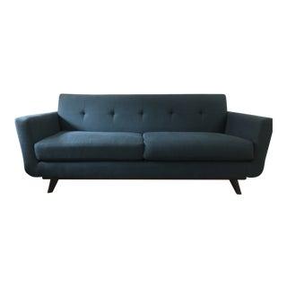 Mid-Century Modern Blue Loveseat For Sale