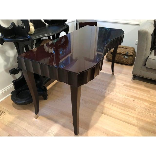 Mid-Century Modern Barbara Barry Baker Black Lacquered Desk For Sale - Image 3 of 8