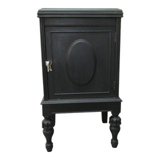 1960''s Antique Black Cabinet With Elephant Pull For Sale