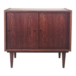 1960s Danish Modern Rosewood Small Cabinet For Sale