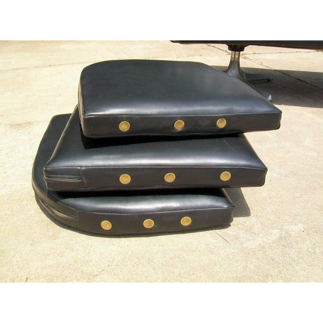Chromcraft Mid Century Modern Black Tufted Couch - Image 9 of 11