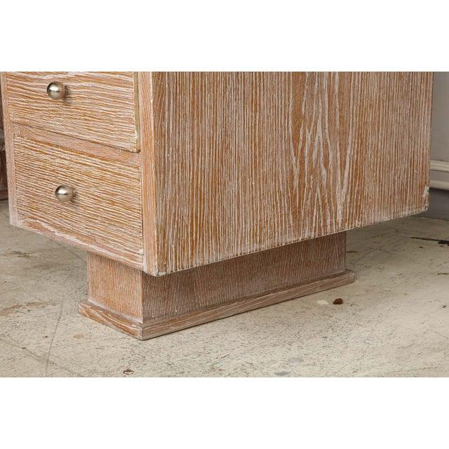 French Cerused Oak Desk For Sale - Image 9 of 11