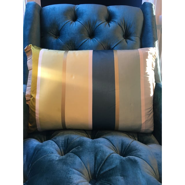 Contemporary Designers Guild Striped Pillow For Sale - Image 3 of 4