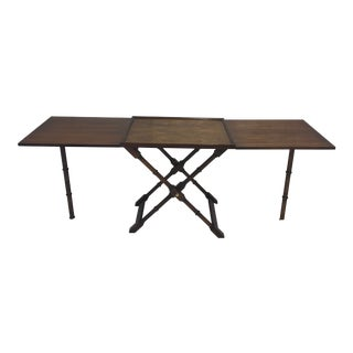 Faux Bamboo Folding Butler's Table For Sale