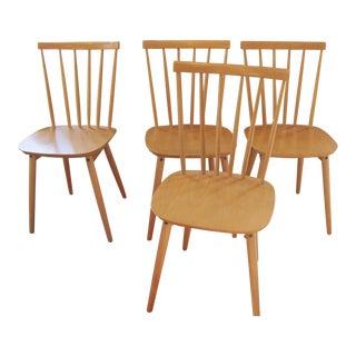 Vintage Mid Century Billund Stolen Danish Modern Chairs- Set of 4 For Sale