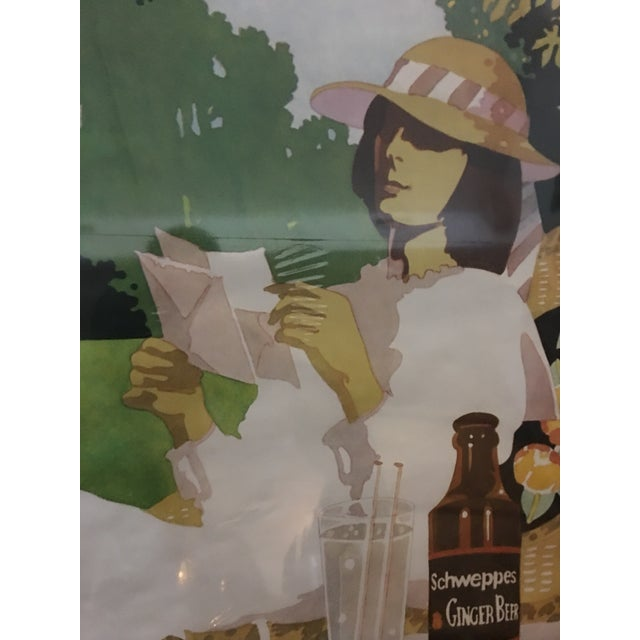 Vintage English Schweppes Ginger Beer Poster - Image 4 of 8